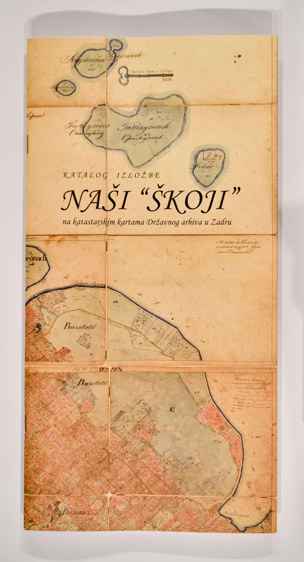 """Naši """"škoji"""" na katastarskim kartama Državnog arhiva u Zadru"""