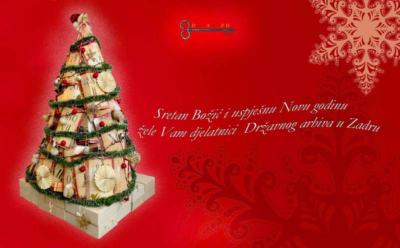 Državni arhiv u Zadru želi Vam sretan Božić i uspješnu novu 2020. godinu