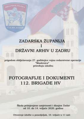 "Izložba ""Fotografije i dokumenti 112. brigade HV"""