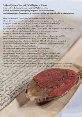 Dan grada Zadra – on-line pergamene samostana sv. Krševana
